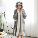 GWELL Femme Peignoir Polaire Long Hiver Chaud Pyjama Robe à Capuche Vêtements de Nuit Animal de la marque GWELL image 2 produit