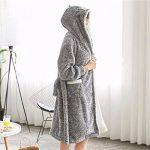 GWELL Femme Peignoir Polaire Long Hiver Chaud Pyjama Robe à Capuche Vêtements de Nuit Animal de la marque GWELL image 3 produit