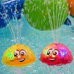 Hamkaw Jouet De Bain Sprinkler, BéBé Toddler Jouet De Bain Rechargeable - 2 en 1 Boule de sprinkleur rotative à Induction électrique avec lumière/Musique pour bébé Tout-Petit de la marque Hamkaw image 3 produit