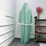 Hijab Femme Musulmane,Femmes Front Dentelle Arabe Traditionnel Musulman Robe Nationale Peignoir Abaya Islamique Musulman Milieu Est Longue Robe de la marque SamMoSon-Musulmane image 2 produit