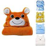 Hinmay - Serviette à capuche pour bébés - Douce couverture de bain - En forme d'animal - Pour nouveau-nés (filles ou garçons) - 0-24mois, N°2, Taille unique de la marque Hinmay image 1 produit