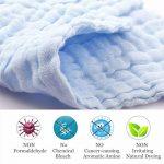 Hmlike Ensemble de 6 débarbouillettes de bain pour bébé, Lingettes réutilisables en coton biologique naturel, Gant de toilette en mousseline pour peau sensible de la marque Hmlike image 1 produit