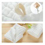 Hmlike Ensemble de 6 débarbouillettes de bain pour bébé, Lingettes réutilisables en coton biologique naturel, Gant de toilette en mousseline pour peau sensible de la marque Hmlike image 4 produit