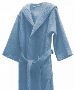 Home Basic Kids - Peignoir Enfant avec Capuche Taille 14, Couleur Bleu Ciel de la marque BONAREVA image 0 produit