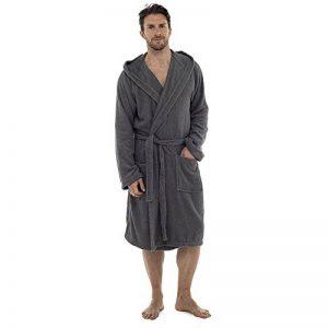 Hommes Luxe 100% éponge coton Peignoir Robe De Chambre Enveloppant Pyjama HT566 de la marque Undercover image 0 produit