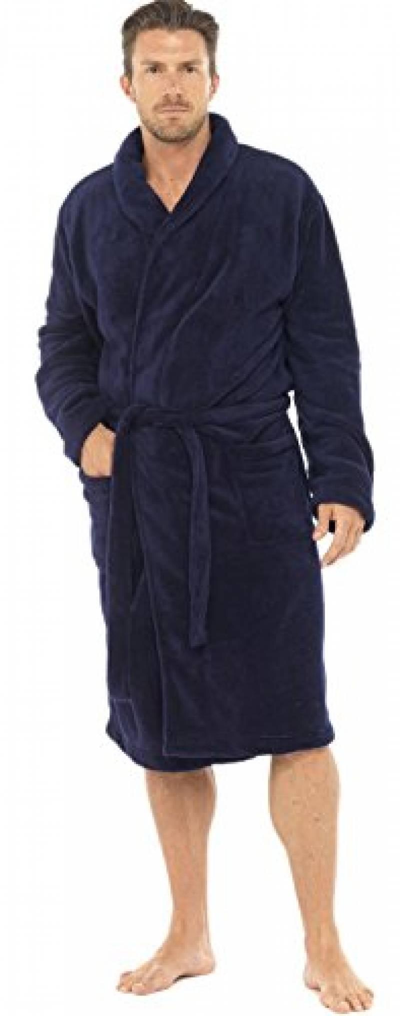 RAIKOU Peignoir Femme Doux en Microfibre Peignoir Robe de Chambre en Polaire Femme Chaud Manches Longues Doux Peignoir de Bain avec Poches et Ceinture