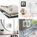Horloge de Salle de Bain étanche de Douche Support Mural Horloge Thermomètre Hygromètre pour Salle de Bains Douche Maquillage étanche (Vert) de la marque VORRINC image 2 produit