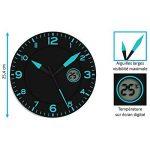 Horloge Noir / Bleu * Avec Température de la marque FISHTEC image 2 produit