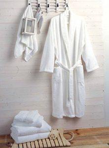 Hôtel et spa qualité luxe Peignoir en tissu éponge 100% coton 400g/m²–Blanc de la marque Musbury image 0 produit