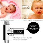 Huapa Thermomètre de douche à affichage numérique LED avec prise de tuyau de douche, mesure précise, alimentation automatique de la marque Huapa image 2 produit