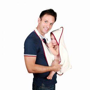 Huggaby serviette-tablier Coton 100% bio pour le bain des bébés (Rouge Raspberry Red) de la marque Schtork image 0 produit