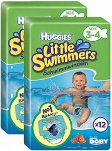 Huggies Little Swimmers Taille 3-4 (7-15 kg), Couche-Culotte de Bain pour Bébé x24 Culottes (Lot de 2 paquets de 12) de la marque HUGGIES image 0 produit