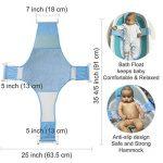 HULISEN Tube de Bain de Bébé Support de Bain Siège de Bain Bébé Réglable Bébé Coton + Polyester Filet de Sécurité Siège de Sécurité pour Bébé de la marque HULISEN image 1 produit