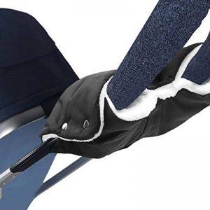 Infreecs Gant Poussette Protège-Mains, Doux Chaud Coupe-Vent et Imperméable Gant, Antigel Gants Bébé Chauffe-Mains Protection des Mains Moufle Poussette pour Canne Poignée Hiver Landau de la marque Infreecs image 0 produit