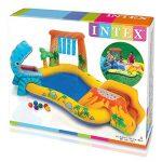 INTEX Aire de jeux gonflable Jurassic - 249 X 191 X 109cm Multicolore de la marque INTEX image 4 produit