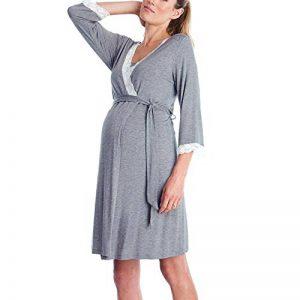 iYmitz ☯ Robe d'allaitement pour Pyjama Robes de Chambre de Grossesse Chemise de Nuit Peignoirs de Bain de la marque iYmitz image 0 produit