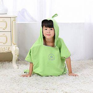 JIAN YA NA Enfant Unisexe extérieur Changement Robe Serviette Poncho avec Capuche bébé de Bain Cape Eau Absorbant à séchage Rapide Peignoir de Bain de Plage Peignoir de Bain de la marque JIAN-YA-NA image 0 produit