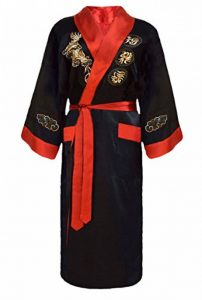 Kimono Japonais Homme réversible Noir et Rouge de la marque Laciteinterdite image 0 produit