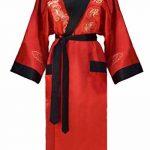 Kimono Japonais Homme réversible Noir et Rouge de la marque Laciteinterdite image 1 produit