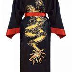Kimono Japonais Homme réversible Noir et Rouge de la marque Laciteinterdite image 2 produit