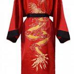 Kimono Japonais Homme réversible Noir et Rouge de la marque Laciteinterdite image 3 produit
