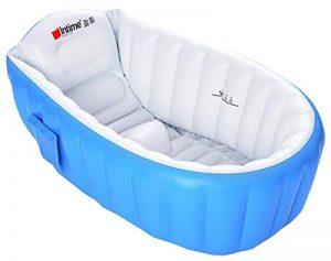 Kintone Baignoire Gonflable Pour Bébé Pliable Bassin Gonflable Enfant Avec Siège Central Anti-Glissante Été (Bleu) de la marque Kintone image 0 produit