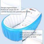 Kintone Baignoire Gonflable Pour Bébé Pliable Bassin Gonflable Enfant Avec Siège Central Anti-Glissante Été (Bleu) de la marque Kintone image 1 produit