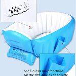 Kintone Baignoire Gonflable Pour Bébé Pliable Bassin Gonflable Enfant Avec Siège Central Anti-Glissante Été (Bleu) de la marque Kintone image 2 produit