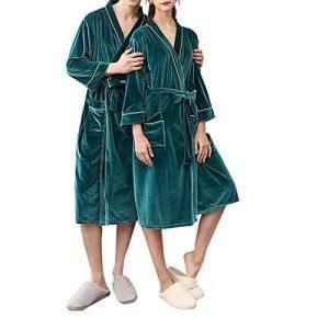Kiss Me Peignoir Kimono Unisexe en Polaire Douce et pelucheuse pour Femme Vert foncé Taille M de la marque KissMe image 0 produit