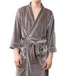 Kiss Me Peignoir Kimono Unisexe en Polaire Douce et pelucheuse pour Femme Vert foncé Taille M de la marque KissMe image 2 produit
