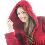 Korfu Peignoir De Bain Capuche De Couleur Unie Court Poches Latérales Femme Sherpa Polaire XS-XXXL de la marque CelinaTex image 1 produit