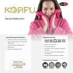 Korfu Peignoir De Bain Capuche De Couleur Unie Court Poches Latérales Femme Sherpa Polaire XS-XXXL de la marque CelinaTex image 4 produit