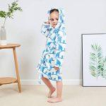 KUKICAT Peignoir Unisexe À Capuche, Dentelle Impression Manches Longues Pyjamas en Coton pour Enfants Mignon Sleepwear de la marque KUKICAT image 1 produit