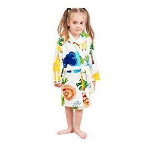 KUKICAT Peignoir Unisexe à Capuche Enfant, Modélisation Animale Mignon Dentelle Impression Serviette de Bain Pyjama Hooded Sleepwear de la marque KUKICAT image 0 produit