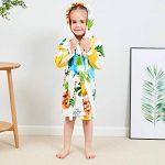 KUKICAT Peignoir Unisexe à Capuche Enfant, Modélisation Animale Mignon Dentelle Impression Serviette de Bain Pyjama Hooded Sleepwear de la marque KUKICAT image 1 produit