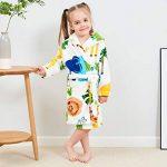 KUKICAT Peignoir Unisexe à Capuche Enfant, Modélisation Animale Mignon Dentelle Impression Serviette de Bain Pyjama Hooded Sleepwear de la marque KUKICAT image 3 produit