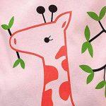 KUKICAT Pyjamas Enfant Service à Domicile Imprimé, Haut à Manches Longues et à Manches Longues, Motif Girafe, Image de Dessin Animé Sleepwear de la marque KUKICAT image 2 produit