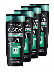 L'Oréal Paris Elsève Homme Shampooing Arginine Resist pour Cheveux Fragiles/Tendance à Tomber 250 ml - Lot de 4 de la marque LOréal-Paris-Elsève image 0 produit
