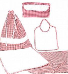 La Chiocciolina Ensemble de 5pièces pour école maternelle, avec toile Aïda rouge de la marque La-Chiocciolina image 0 produit