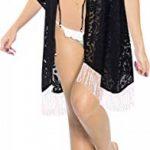 LA LEELA Robes de Plage Grande Taille Tunique Pull Femme Kimono Bohême Mode Mousseline de soie Bikini Dentelle Cover Up Blouse Maillot De Bain Caftan Sarong Pareo Été Chemisier Haut Top Beachwear Swim de la marque LA-LEELA image 3 produit
