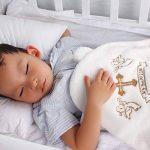 LACOFIA Serviette de Baptême à capuchon pour bébé UnisexeCouverture de Baptême,Cadeaux Personnalisés pour Garçons ou Filles,Serviette de Bain Taille 90 * 90 CM de la marque LACOFIA image 2 produit