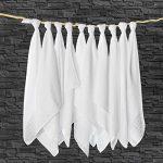 Lange bébé en mousseline de coton Lot de 10 - 80 x 80 cm, Qualité supérieure - Couleur blanc, double tissage, bordure renforcée, certifié Öko-Tex Standard 100, lavable à 90° C de la marque Makian image 3 produit