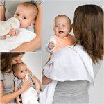 Lange bébé en mousseline de coton Lot de 10 - 80 x 80 cm, Qualité supérieure - Couleur blanc, double tissage, bordure renforcée, certifié Öko-Tex Standard 100, lavable à 90° C de la marque Makian image 1 produit