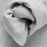 Langes bébé mousseline Lot de 4 70 x 70 cm - Qualité supérieure - Coton doux, absorbant, double tissage, bordure renforcée - Motif étoiles gris - certifié Oeko-Tex Standard 100, lavable à 60° C de la marque Makian image 4 produit