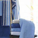 Lashuma Serviette Sets, Gant de Toilette, essuie-Main, Serviette d'invité, Serviette de Douche | Turquoise–Gris–Violet–Bleu, Coton, Türkis, 4er 15 x 21 cm de la marque Lashuma image 3 produit