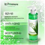 Le Pommiere Aloe vera gel pur 250ml. Hydratante naturel. Calme les brulures solaires sur le visage et le corps. Rafraîchit la peau irrité par le rasage et l'épilation. Soulage piqûres d'insectes de la marque Le-Pommiere image 2 produit