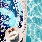 Leana Collection Serviette Plage Ronde Mandala Épaisse Tapisserie Coton avec Frange Ultra-épais Mat Yoga Hippie Tapis Beach Ete Cadeau (Bleu Etoil) de la marque Leana Collection image 1 produit