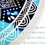 Leana Collection Serviette Plage Ronde Mandala Épaisse Tapisserie Coton avec Frange Ultra-épais Mat Yoga Hippie Tapis Beach Ete Cadeau (Bleu Etoil) de la marque Leana Collection image 2 produit
