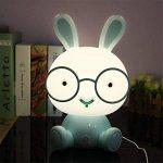 LED Lapin Lumière De Nuit Lampe Charmante Fiche USB Rechargeable Lapin Dessin Animé Maison Veilleuses pour Bébé De Chevet,Blue de la marque BIBIQ image 1 produit