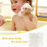 Leepem baby Bébé en mousseline Gants de Toilette – Naturel Mousseline de coton bébé Lingettes – Bébé nouveau-né bébé Serviette de Visage, Lot de 10 30 x 30 cm (White) de la marque Leepem baby image 2 produit